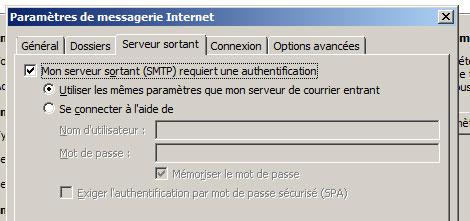 Paramétrer ses mails en SMTP