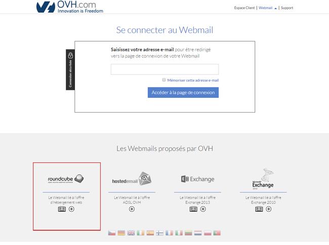 Webmail OVH pour consulter ses mails en ligne