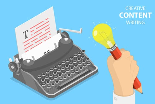 Icone illustrant le content marketing et la création de contenus