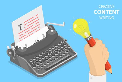 Icone illustrant le content marketing et la création de contenus