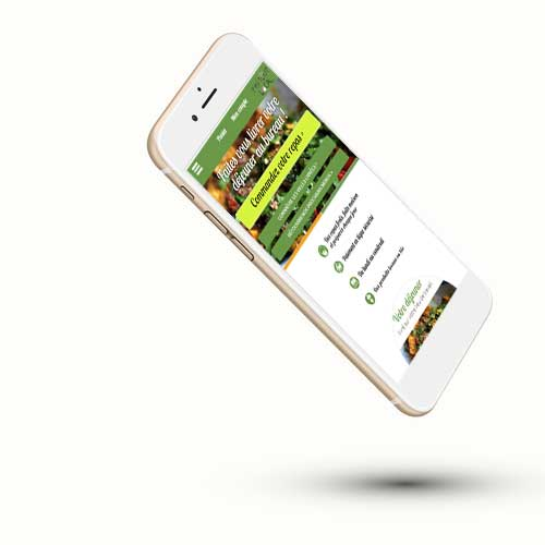 Le site Faitoutlocal sur smartphone