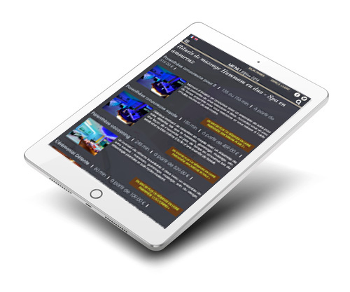 Mockup de la version responsive sur tablett