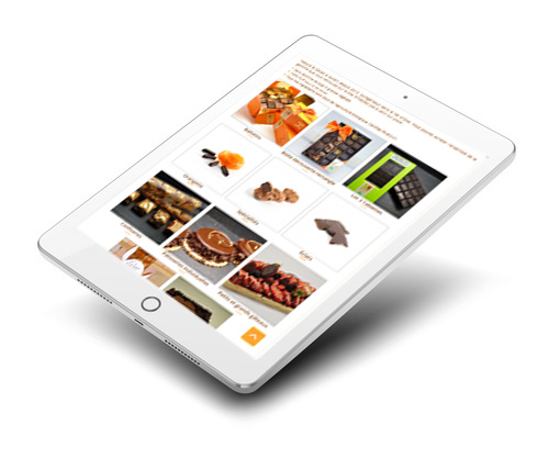 Le site internet Nature et Cacao sur tablette
