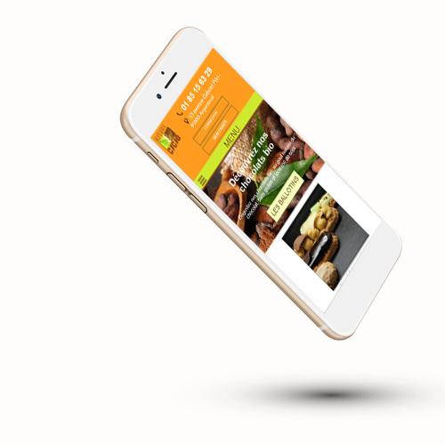 Le site internet Nature et Cacao sur téléphone
