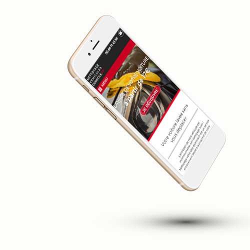 Le site sur smartphone