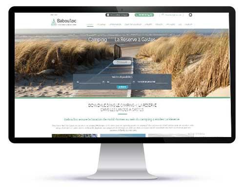 La vue du site internet Babou'Loc