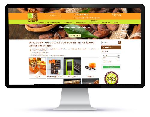 Le site internet Nature et Cacao