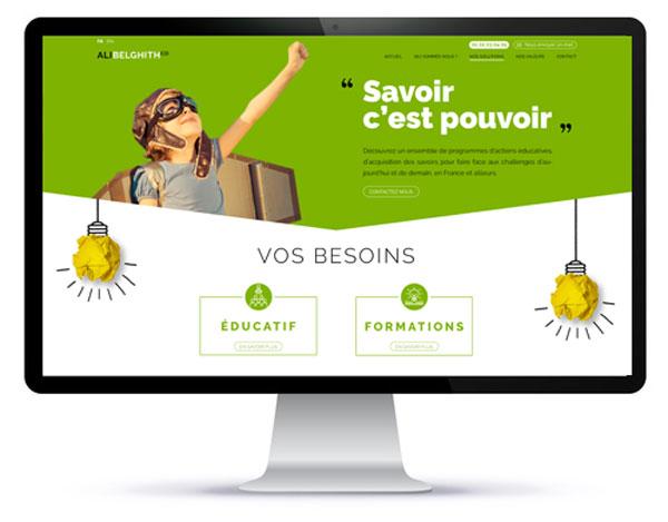 Mockup du site internet une page par Agoraline