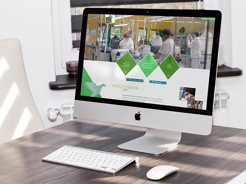 Notre agence a été missionnée pour la création du site vitrine de l'association Aped l'Espoir 95