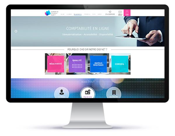 Mockup de la homepage pour création site internet 95