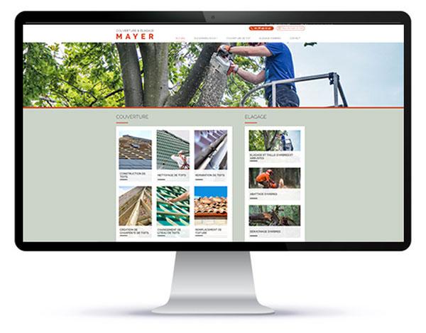 Mockup du site internet couverture Mayer sur ordinateur