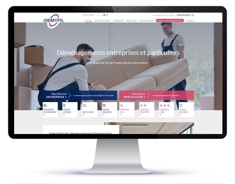 Création du site internet de l'entreprise de déménagement Demyfil à Eaubonne