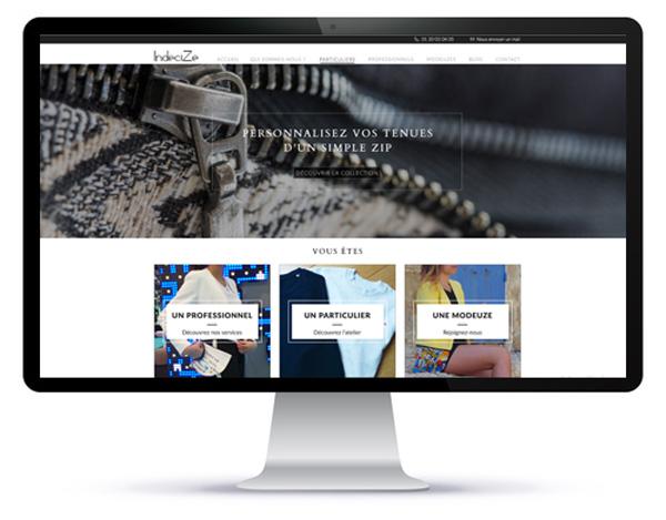 Mockup du site internet Indecize réalisé par Agoraline 95