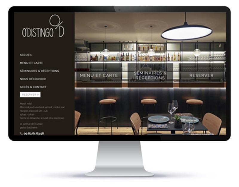 Création de site de réservation pour restaurant par l'agence web Agoraline