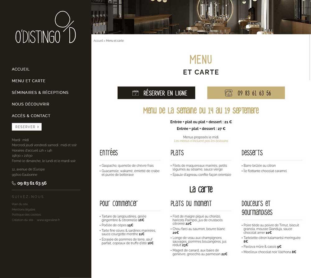 Agence de création de site internet pour les restaurant avec carte et module de réservation 95