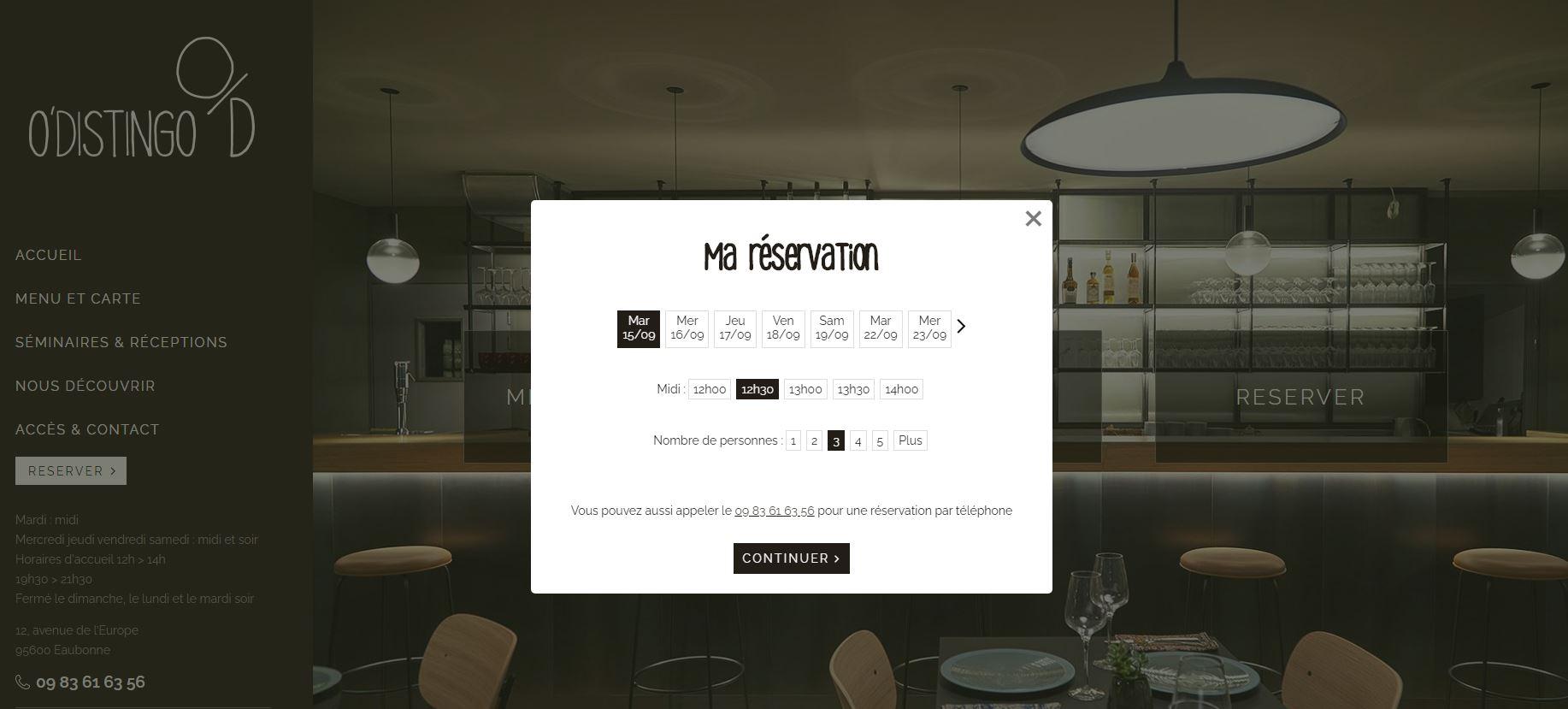 Création de site internet pour restaurant Val d'Oise
