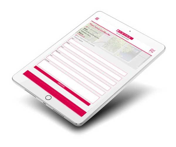 Mockup du site internet PVEG 95 sur tablette