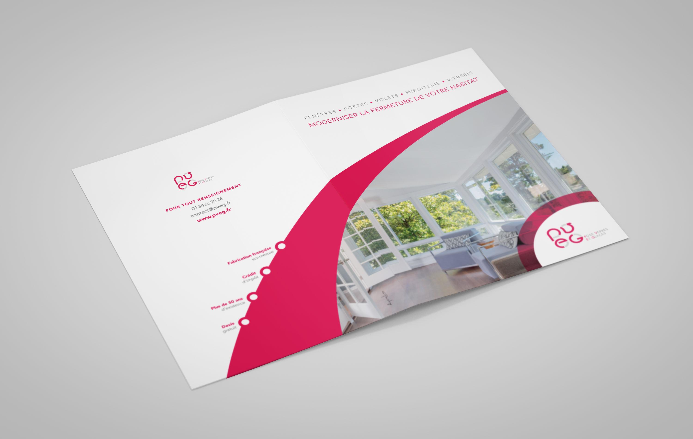 Création de la plaquette commerciale de la société PVEG située dans le Val d'Oise