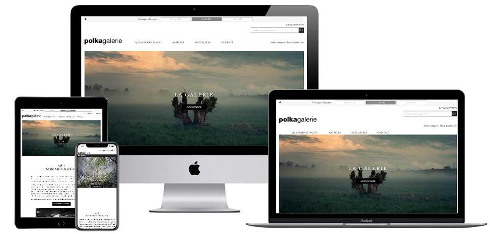 Création graphique, développement spécifique et intégration technique pour créer un site web à votre image