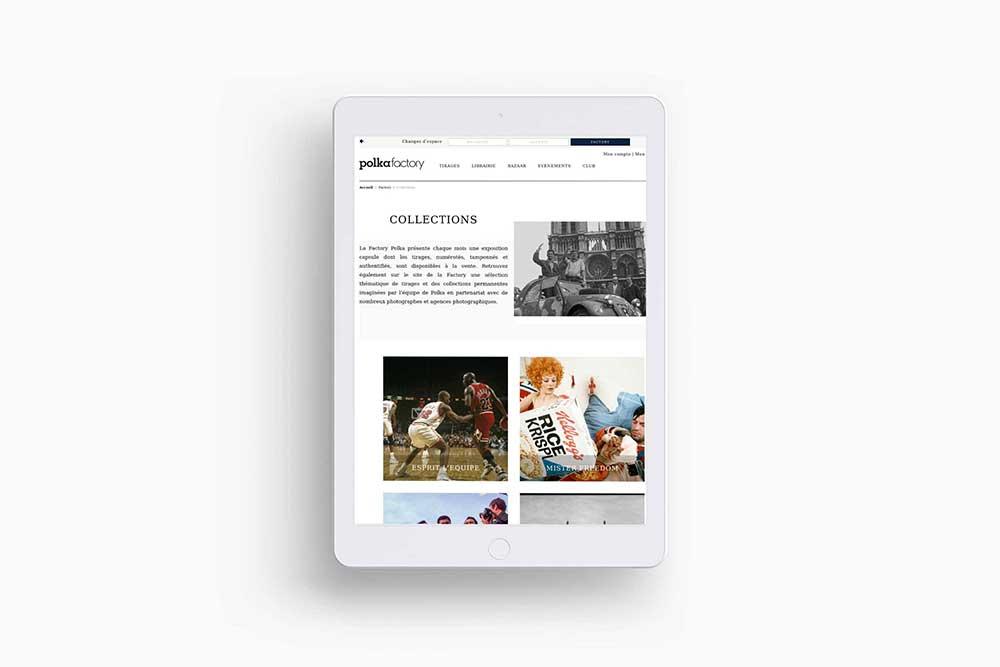 Exemple de réalisation de sites web d'une galerie d'art créé par l'agence web 95 Agoraline