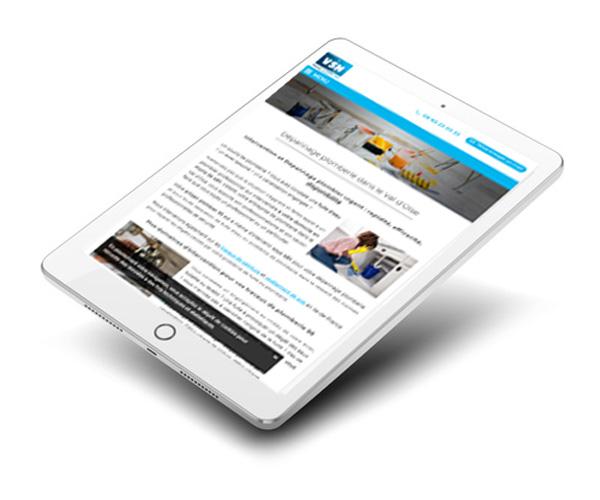 Mockup du site internet plomberie créé par l'agence web Ermont
