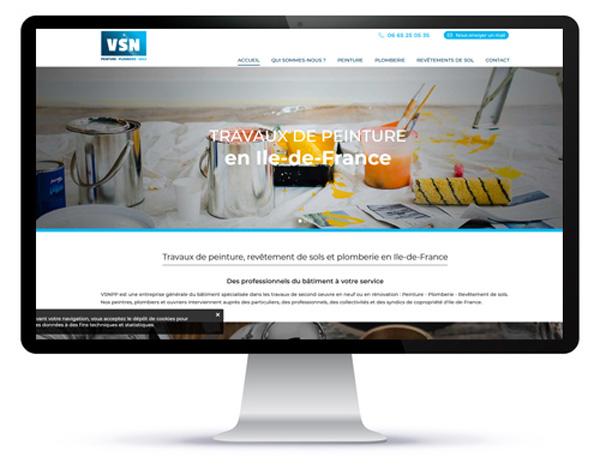 Visualisation du site internet VSNPP sur écran d'ordinateur