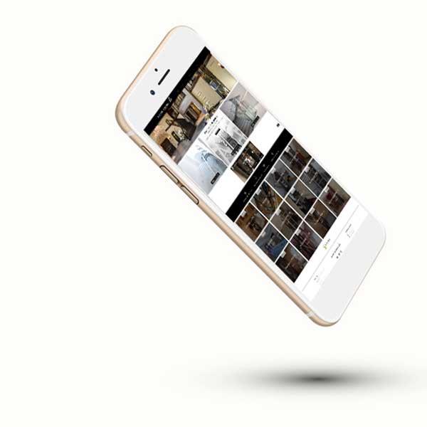 Mockup du site internet ascenseurs privatifs sur smartphone