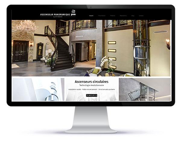 Mockup du site internet créée par l'agence création site web 95