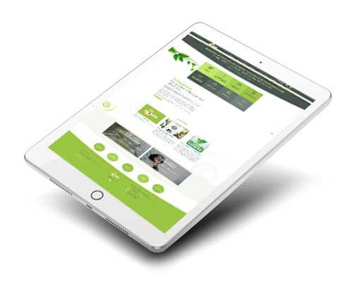 Mockup du site web Ecospirale développé par l'agence agoraline 95