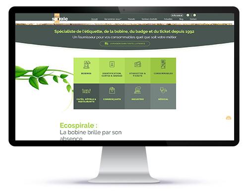 Mockup du site internet Ecospirale par Agoraline