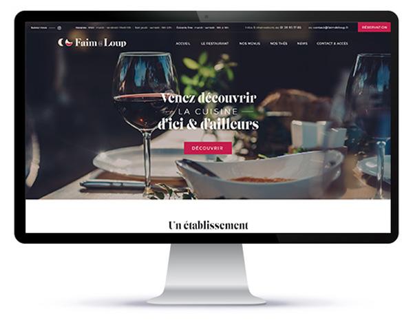 Mockup du site internet de restaurant 95 sur ordinateur