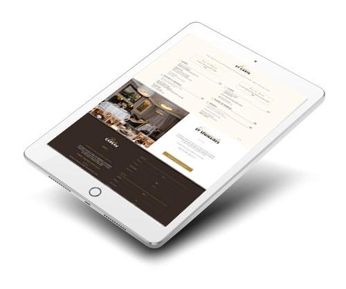 Mockup du site internet du restaurant Le Chiquito à Méry sur Oise sur un ipad