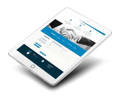 VLConseil en responsive sur tablette