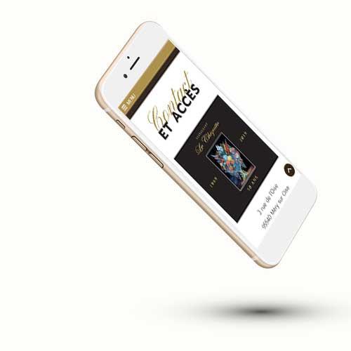 Mockup du site internet du restaurant Le Chiquito à Méry sur Oise sur un iphone