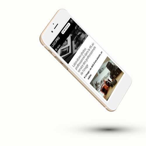 Labopro pour les photographes professionnels sur Iphone