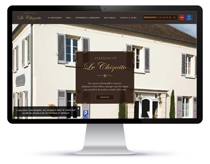 Mockup du site internet une page du restaurant Le Chiquito sur ordinateur
