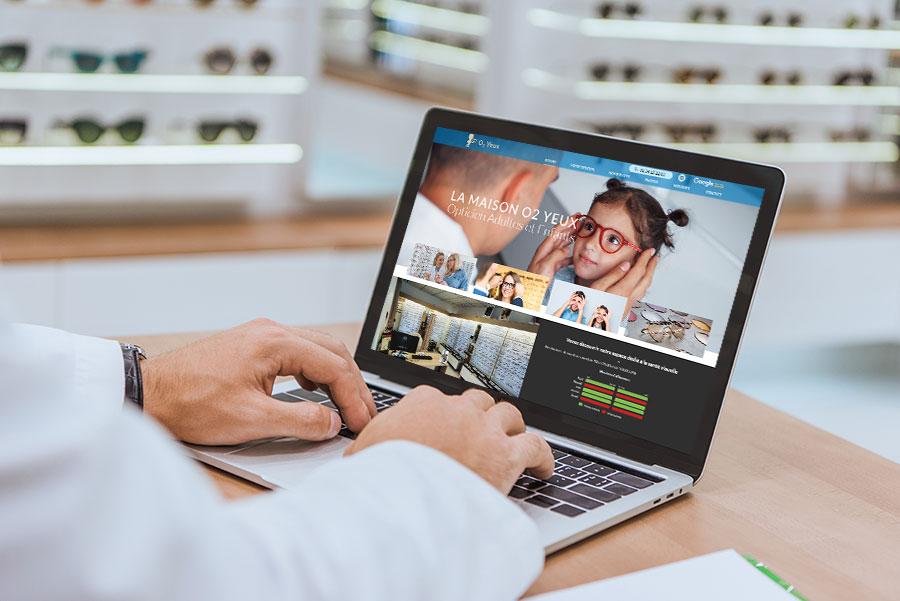 Agoraline, agence de création de site internet vitrine pour commerçants et opticiens 95