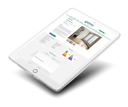 Mockup du site internet responsive Remora Immobilier sur tablette et Ipad