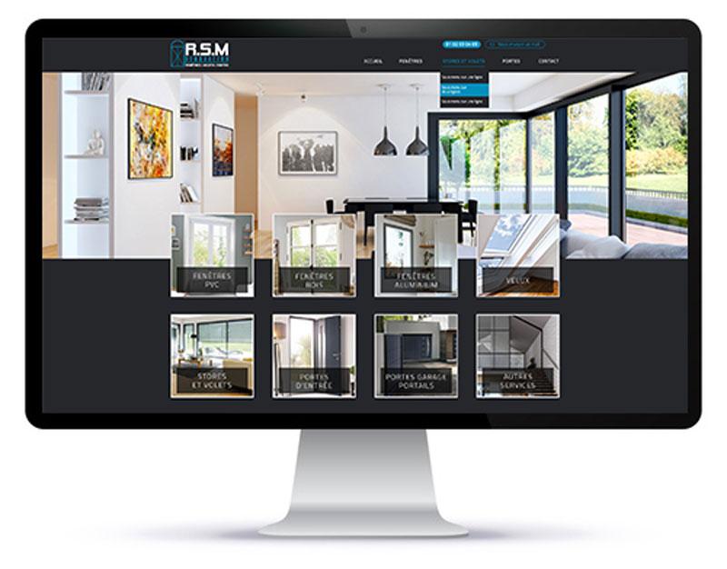 Mockup du site internet RSM Rénovation