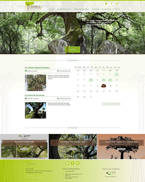 Création du site internet association ARBRES