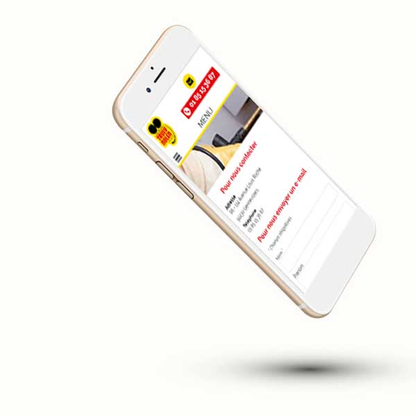 Mockup iphone du site Truly Nolen France