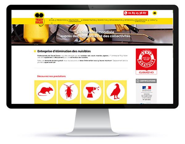 Mockup du site internet vitrine 95 de l'agence création site internet Val d'Oise